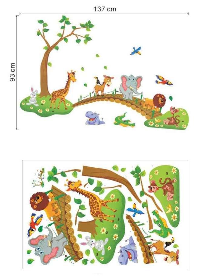 3 Dimensional Jungle Theme Sticker for Walls