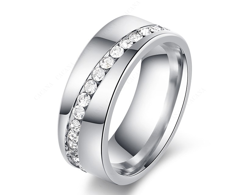 Stunning Stainless Steel Personalized Women Ring